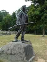 There was one combatant at the battle who was 70 years old. His name was John L. Burns. Burns, a veteran of the War of 1812 and a Gettysburg resident, grabbed his flintlock musket and joined the fight as the South moved in.