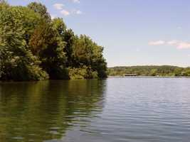 The lake water level can drop over 22 feet in the summer.