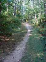 The trail is primarily a single-track path that hugs the hillside ...