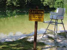 Swimmers at Fuller Lake, which is 1.7 acres, are advised to exercise caution because of the extreme depths and cold subsurface waters. Lifeguards are on duty from 11 a.m. to 7 p.m. daily unless otherwise posted.
