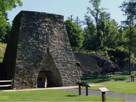 In 1764, partners George Stevenson, Robert Thornburgh and John Arthur built an iron furnace along Mountain Creek. They named it Pine Grove Iron Works.