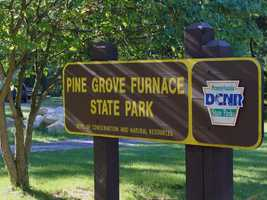 The park is located off Route 233 about eight miles from Interstate 81.