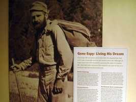 Artifacts that belonged to other hiking pioneers, including Gene Espy, Grandma Gatewood, and Ed Garvey are on display.