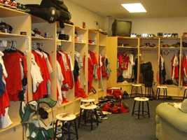 The Clubhouse is where the Barnstormers spend most of their time when they are not on the field.