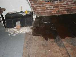 This picture shows the floor being treated.