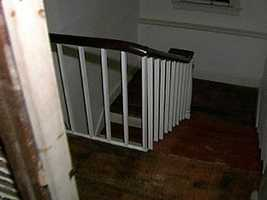And it was at the top of this staircase, in the attic, where the Confederates engaged in a bloody battle.