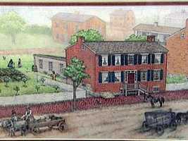 The home was left vacant and Confederate soldiers moved in.