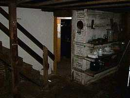 The Shriver home basement.