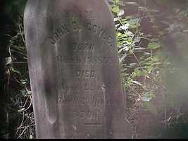 It marks the grave of John Coyle.