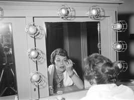 Ann Herr in her dressing room.