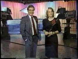 Wendell Woodbury and Mary Haverstick on the set of Susquehanna People.
