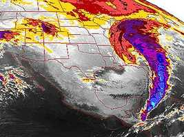The massive storm stretched from Central America to Canada.