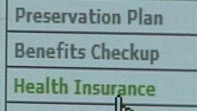 health insurance on computer screen - 30421990