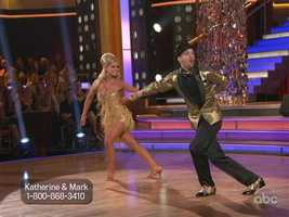 """I Can't Get Next To You"" by The Temptations was the Samba that Katherine Jenkins and Mark Ballas danced to."