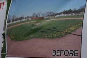 This is what the field looked like before the renovations.