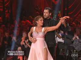 She practiced with both Maks and his brother Val, but Maks danced and looked strong.