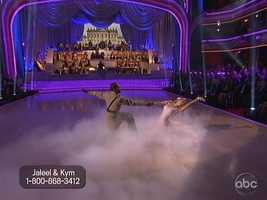 Jaleel White and Kym Johnson closed the individual round with their Viennese Waltz.