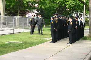 The Milwaukee County Sheriff's Office command staff gathered outside the school to lay a wreath to remember this solemn anniversary.
