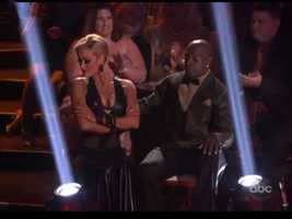 Donald Driver and partner Peta Murgatroyd began the night with a Tango.