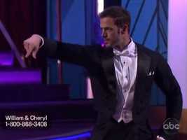 William Levy and partner Cheryl Burke danced the Foxtrot.