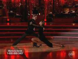 Maria Menounos and Derek Hough danced the Argentine Tango to finish the first round.