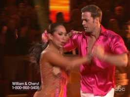 William and Cheryl kicked off the second half of the semifinal with steamy Samba.