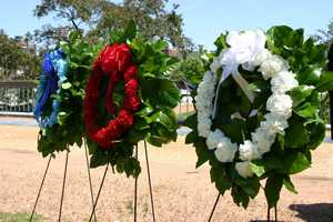 Wreaths were laid in honor of fallen officers