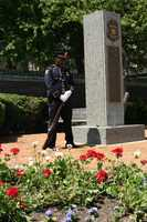 Honor guard posted at the memorial