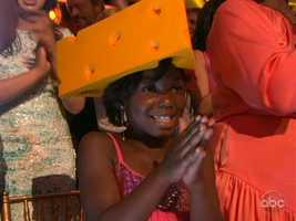 Donald Driver's family proudly wore Cheeseheads to support their Green Bay Packer.