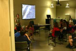For years Peregrine Falcons have been nesting at WE Energies facilities around the area. On this day two 5th grade classes from Deerfield Elementary School were invited to watch the new chicks get their ID bands.