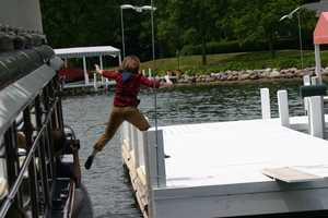 Even a Rockford reporter tried here hand at jumping.