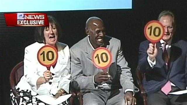Donald Driver judges dancing