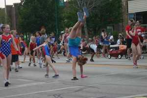 Gymnastics in the street?  Why not.