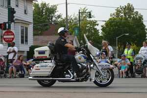 The parade route went down Greenfield Ave and ended at Veterans' Memorial Park.