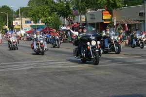 Parade might not be complete without motorcycles.