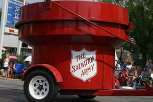 Maybe the biggest Salvation Army red kettle.