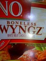 "The USDA allows the use of the term ""wyngz"" for chicken products that look like wings but contain no wing meat."