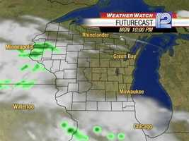 Drought-stricken southern Wisconsin has several chances of rain over the next three days. Here is the Weather Watch 12 radar forecast for Monday night and Tuesday morning: