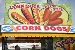 Cheese and Corn Dogs at Crutchee's and multiple vendors across the grounds