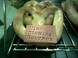 Gourmet braided pretzel at Madison Sportservice