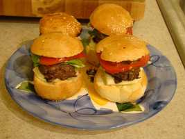 Mini burgers at Adeline's Corn Stand