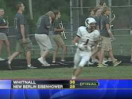 New Berlin Eisehower loses to Whitnall 6-28