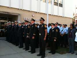 The fire department was joined by Milwaukee County Sheriff David Clarke and representatives of his department.
