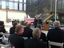 Gov. Scott Walker, Milwaukee Mayor Tom Barrett, County Executive Chris Abele and Police Chief Ed Flynn were in attendance.