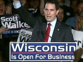 Nov. 2, 2010 - Milwaukee County Executive Scott Walker wins the election for Governor.
