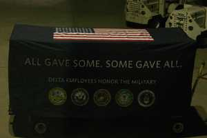 For this trip one Delta 757 was chartered to carry the vets, guardians and staff.
