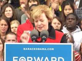 U.S. Rep. Tammy Baldwin gave one of the introductory speeches.