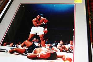 Muhammad Ali autographed picture