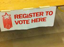 No. 2:  Voters can register at the polling place on Election Day