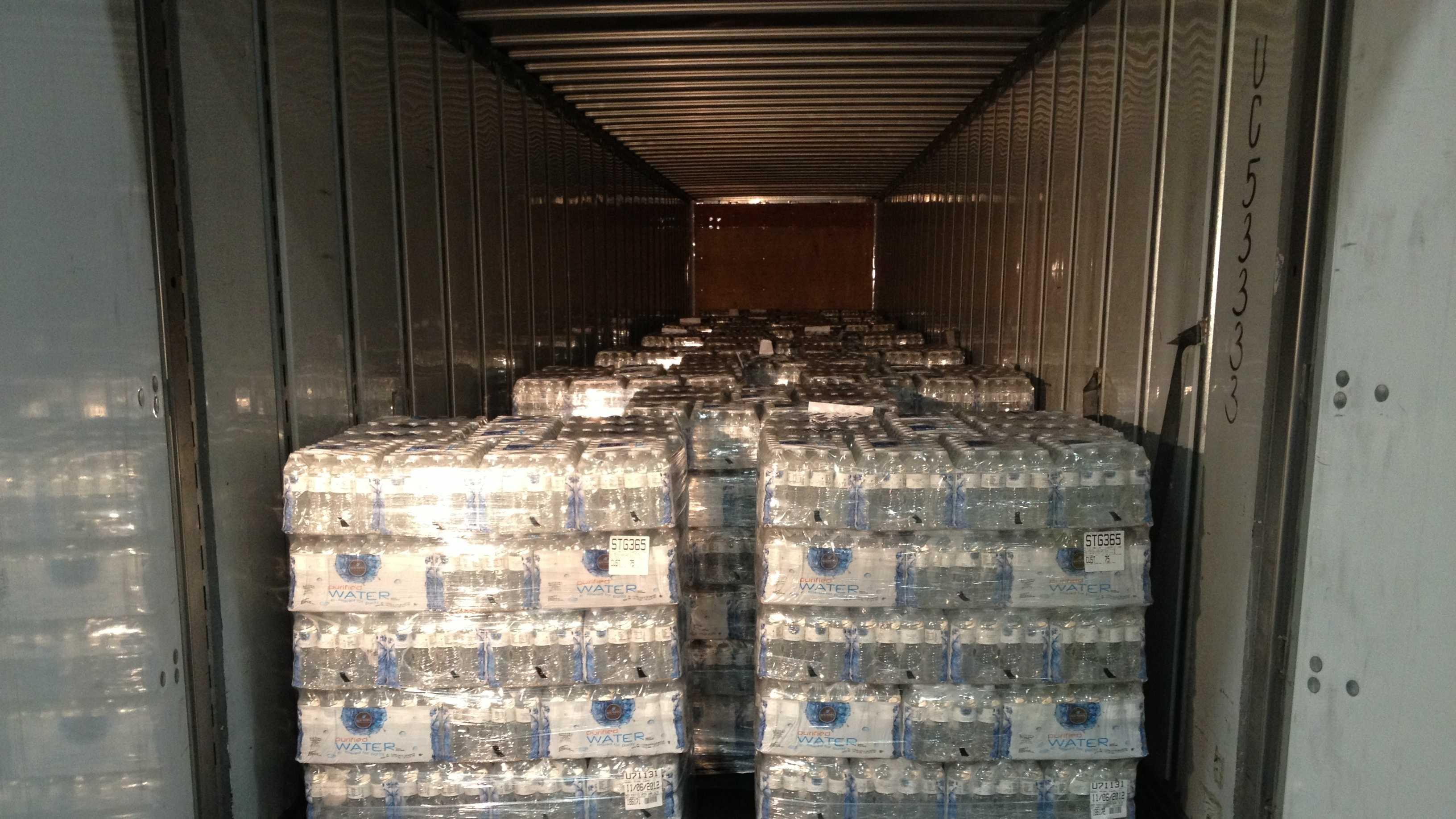 water in truck